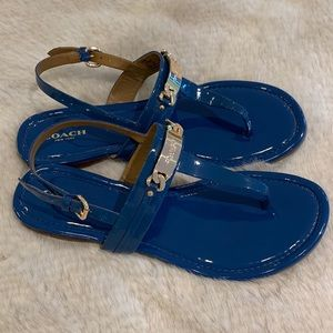 Coach Caterine leather sandal 9 US